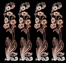 Load image into Gallery viewer, ART NOUVEAU ROSE GOLD FLOWERS - Clipart