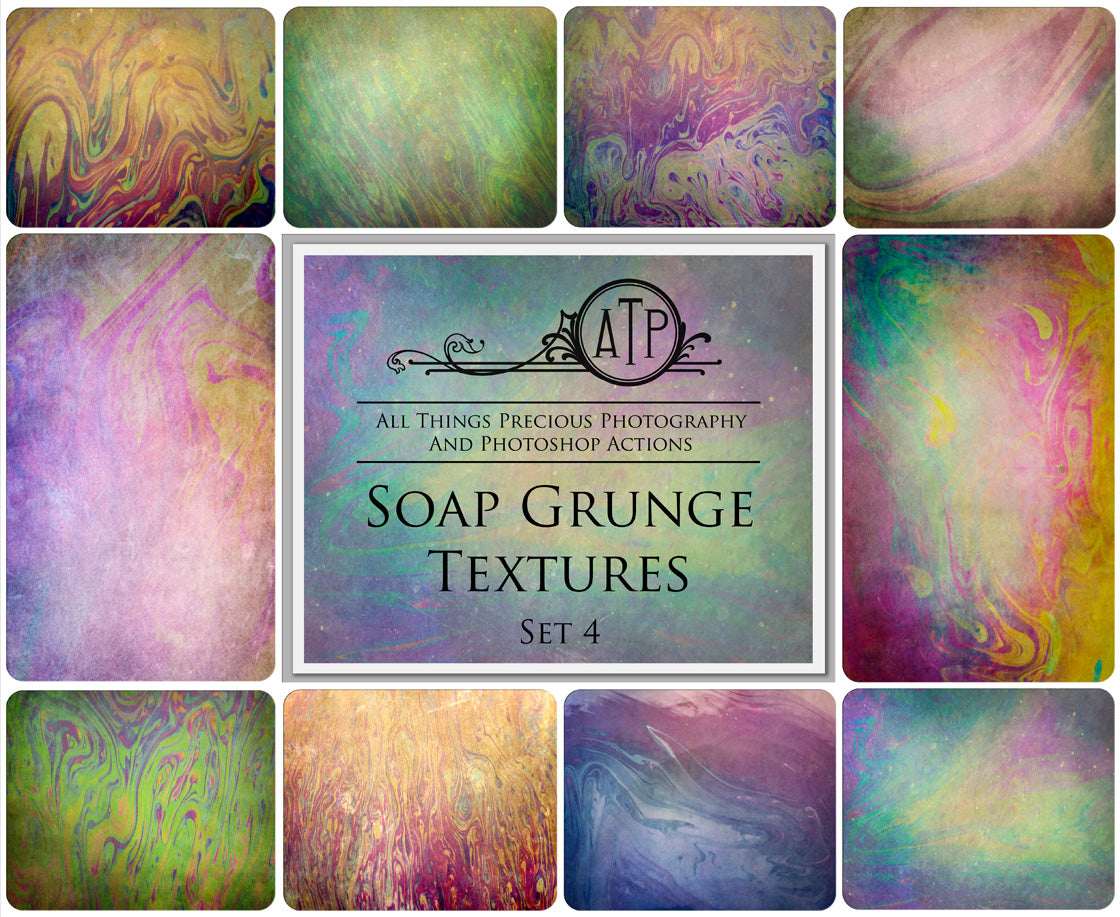 10 Fine Art SOAP GRUNGE High Resolution TEXTURES Set 4