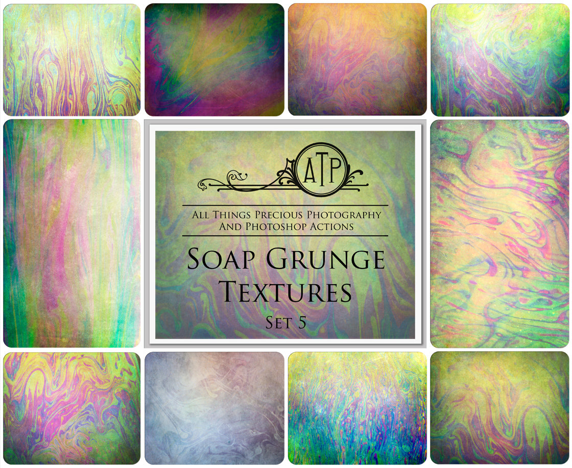 10 Fine Art TEXTURES - SOAP GRUNGE Set 5
