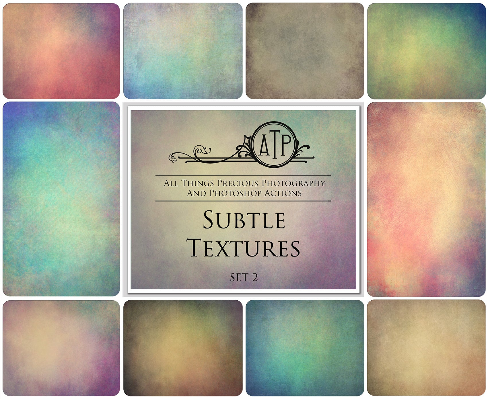 10 Fine Art TEXTURES - SUBTLE Set 2
