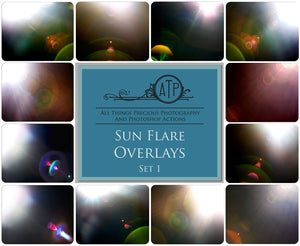 ORGANIC SUN FLARE Digital Overlays Set 1