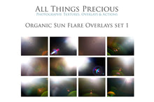 Load image into Gallery viewer, ORGANIC SUN FLARE Overlays Set 1