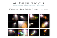 Load image into Gallery viewer, ORGANIC SUN FLARE Digital Overlays Set 4
