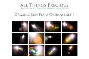 ORGANIC SUN FLARE Digital Overlays Set 4