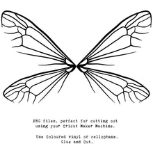 Load image into Gallery viewer, PNG FAIRY WINGS for CRICUT - Set 3
