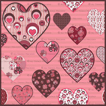 Load image into Gallery viewer, SWEET HEART Digital Papers Set 1