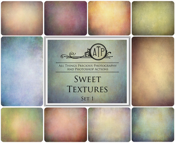 10 Fine Art SWEET High Resolution TEXTURES Set 1