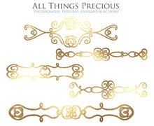 Load image into Gallery viewer, SWIRLY GOLD BORDERS set 2 - Clipart