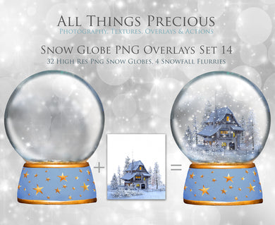 SNOW GLOBE Png Digital Overlays No. 14