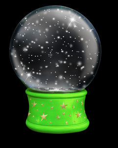 SNOW GLOBE Png Digital Overlays and PSD Template No. 12