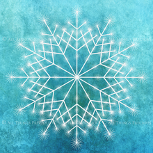 Load image into Gallery viewer, SNOWFLAKE PHOTOSHOP BRUSHES With Clipart - Set 2