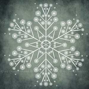 SNOWFLAKE PHOTOSHOP BRUSHES With Clipart - Set 1