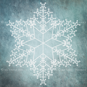 SNOWFLAKE PHOTOSHOP BRUSHES With Clipart - Set 2