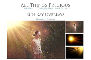 SUN RAY / FLARE Digital Overlays