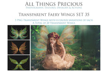 Load image into Gallery viewer, 20 Png FAIRY WING Overlays Set 35