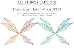 20 Png FAIRY WING Overlays Set 37