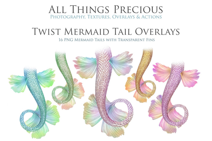 TWIST MERMAID TAILS - Digital Overlays