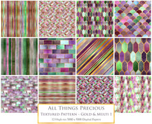 Load image into Gallery viewer, TEXTURED PATTERN Gold Multicoloured 1 - Digital Papers
