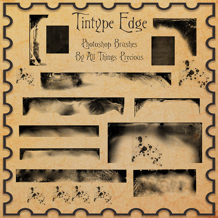 PHOTOSHOP BRUSHES - Tintype Edges - FREE DOWNLOAD
