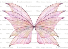 Load image into Gallery viewer, 20 Png TRANSPARENT FAIRY WING Overlays Set 14