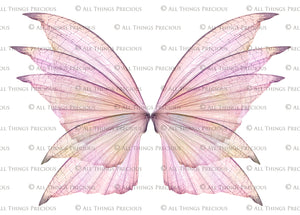 20 Png TRANSPARENT FAIRY WING Overlays Set 14