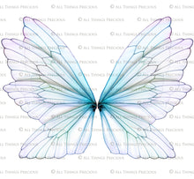 Load image into Gallery viewer, 20 Png TRANSPARENT FAIRY WING Overlays Set 16