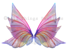 Load image into Gallery viewer, 20 Png TRANSPARENT FAIRY WING Overlays Set 4