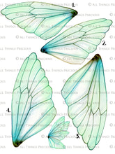Load image into Gallery viewer, PRINTABLE FAIRY WINGS for Art Dolls - Set 4