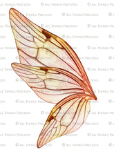 Load image into Gallery viewer, PRINTABLE FAIRY WINGS for Art Dolls - Set 5