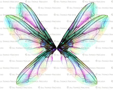 Load image into Gallery viewer, 20 Png TRANSPARENT FAIRY WING Overlays Set 29