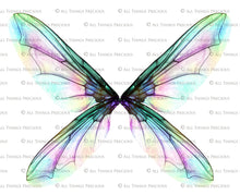 Load image into Gallery viewer, 20 Png TRANSPARENT PIXIE Fairy WING Overlays Set 1
