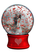 Load image into Gallery viewer, VALENTINE SNOW GLOBE  - Png Digital Overlays and PSD Template No.17