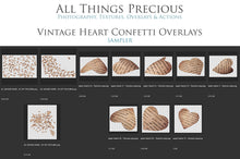 Load image into Gallery viewer, VINTAGE LOVE HEART Digital Overlays