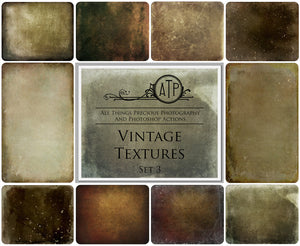 10 Fine Art VINTAGE High Resolution TEXTURES Set 3