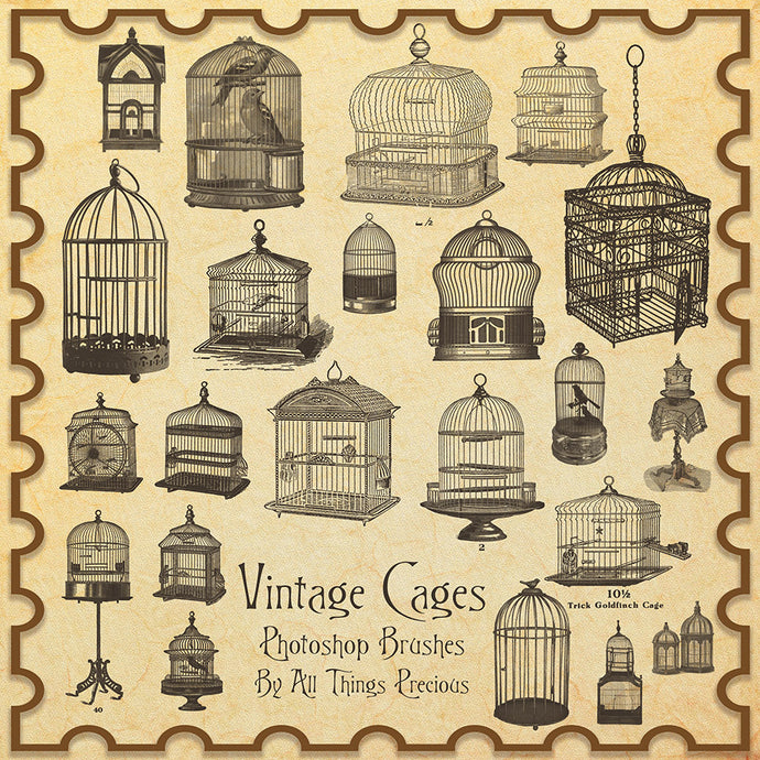 PHOTOSHOP BRUSHES - Vintage Bird Cage - FREE DOWNLOAD