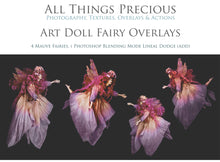 Load image into Gallery viewer, ART DOLL FAIRY Digital Overlays Set 1