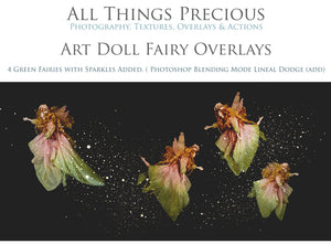 ART DOLL FAIRY Digital Overlays Set 1