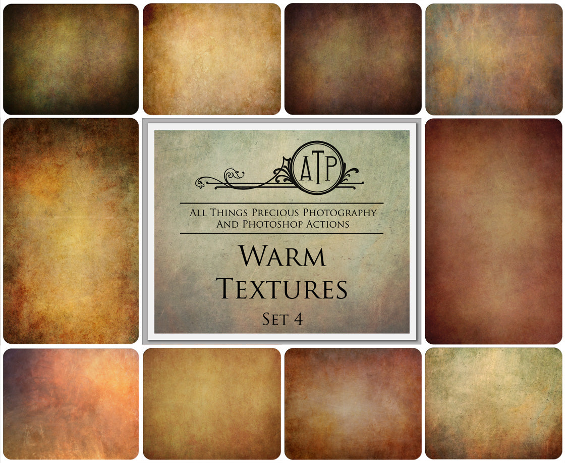 10 Fine Art WARM High Resolution TEXTURES Set 4