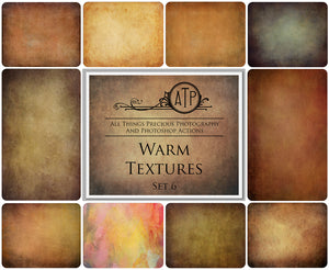 10 Fine Art WARM High Resolution TEXTURES Set 6