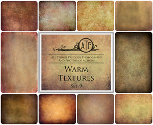 10 Fine Art WARM High Resolution TEXTURES Set 9