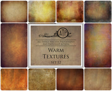 Load image into Gallery viewer, 10 Fine Art WARM High Resolution TEXTURES Set 12