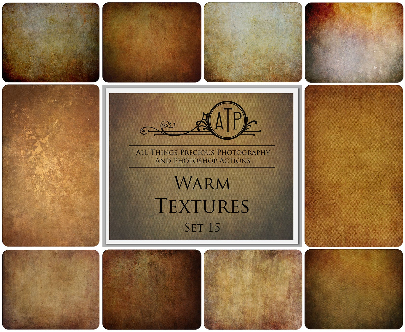 10 Fine Art WARM High Resolution TEXTURES Set 15