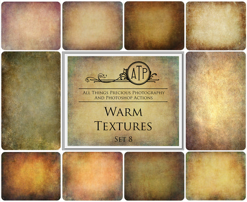 10 Fine Art WARM High Resolution TEXTURES Set 8