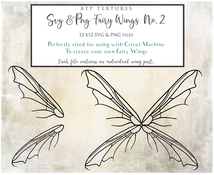 PNG FAIRY WINGS for CRICUT - Set 2