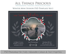 Load image into Gallery viewer, WINTER MINI SESSION - PSD Template No.1