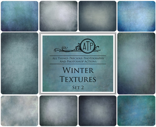 10 Fine Art WINTER High Resolution TEXTURES Set 2
