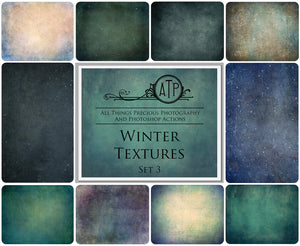 10 Fine Art TEXTURES - Winter Set 3