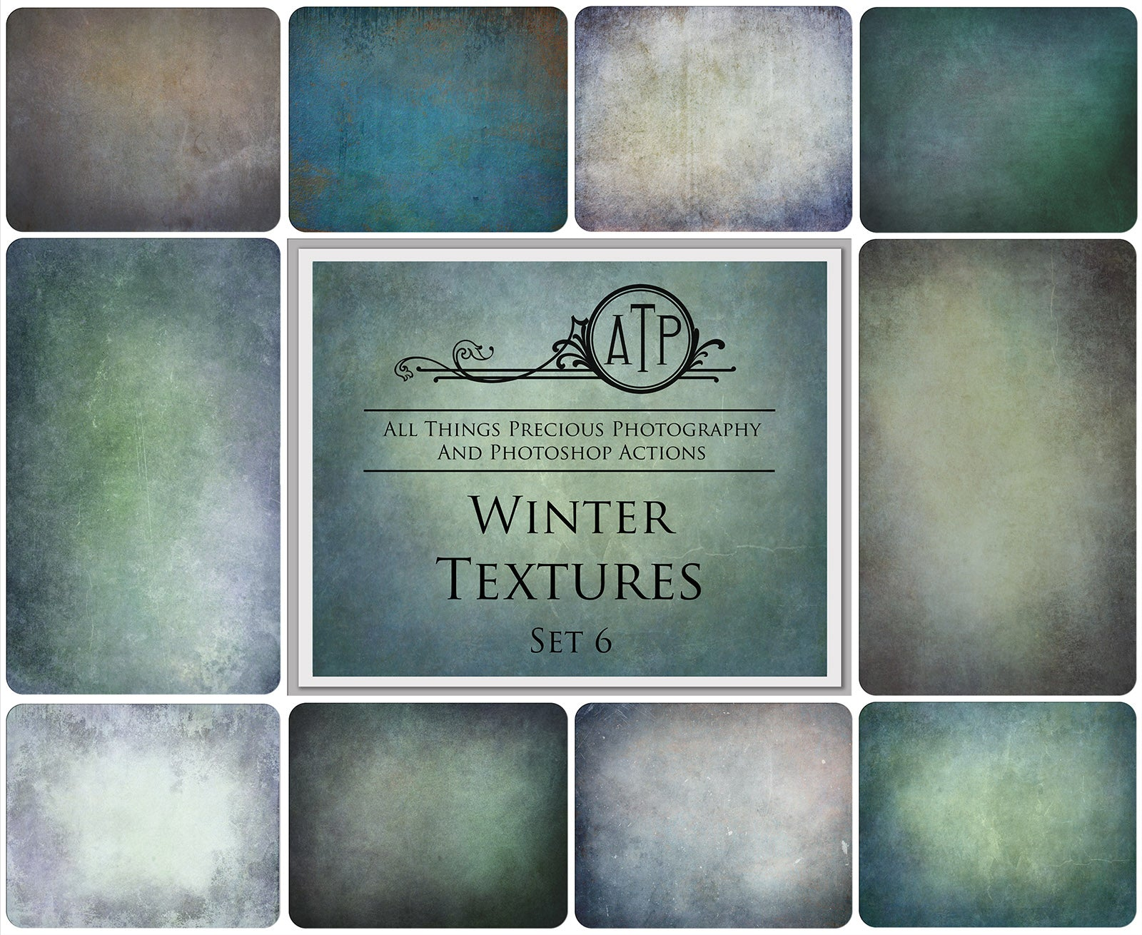 10 Fine Art WINTER High Resolution TEXTURES Set 6