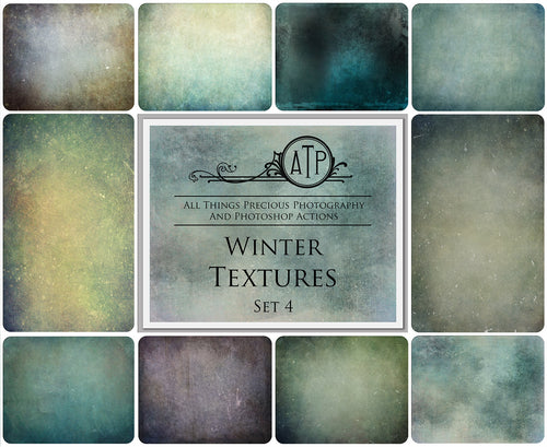 10 Fine Art WINTER High Resolution TEXTURES Set 4