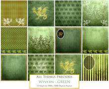 Load image into Gallery viewer, WYVERN - GREEN - Digital Papers
